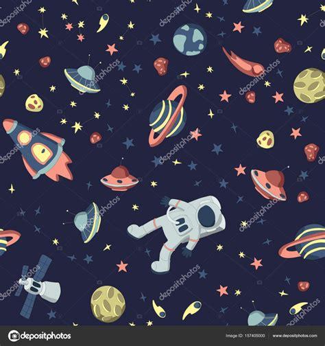 html input pattern space 공간 주제에 완벽 한 패턴입니다 열린 우주 우주선 다양 한 행성과 소행성의 세트의 우주 비행사 벡터