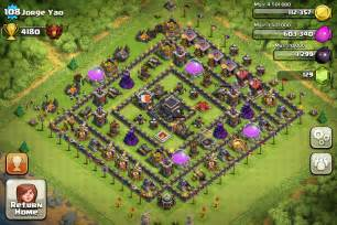 Clash of clans town hall level 9 featured base for guarding resources