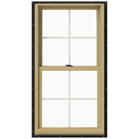 Jeld Wen Aluminum Clad Wood Windows Decor Jeld Wen 25 375 In X 48 In W 2500 Hung Aluminum Clad Wood Window Thdjw177200469 The