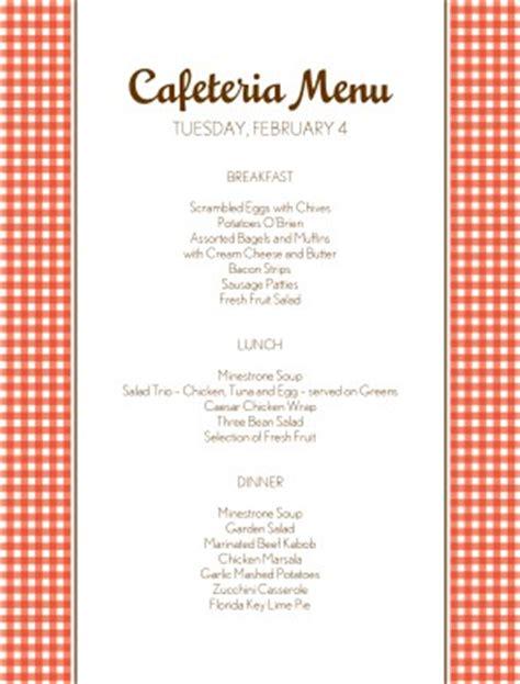 hospital menu template todays cafeteria menu cafeteria menus