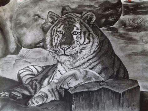 gambar harimau hitam putih sugriwa gambar