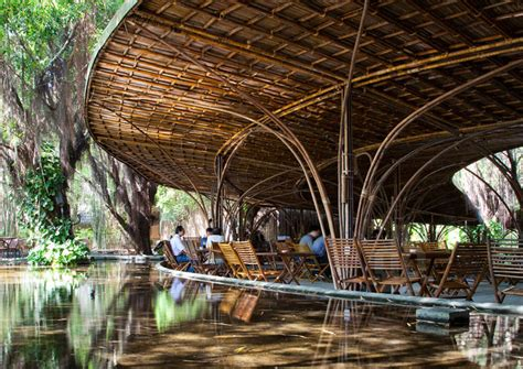 vo trong nghia architects builds bamboo wnw cafe