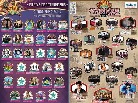 octubre fallecidos artistas 2016 conciertos en el palenque y foro principal de las fiestas