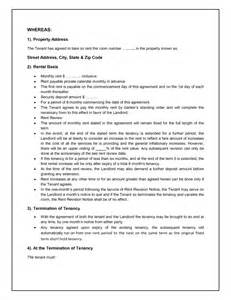 Tenancy Agreement Letter Format Tenancy Agreement Template