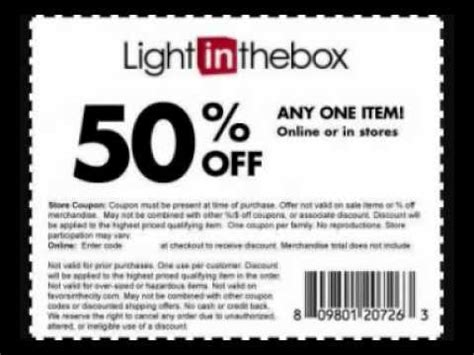 light in the box promo code light in the box coupon august 2012 youtube