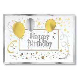 gold silver happy birthday corporate birthday card