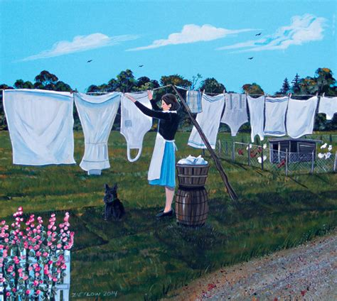hanging laundry items similar to original painting 1930s hanging laundry on clothes line on etsy