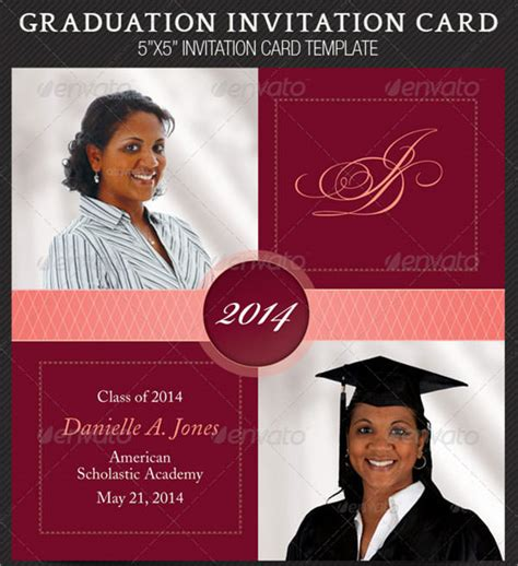 graduation announcement cards templates 7 graduation invitation templates