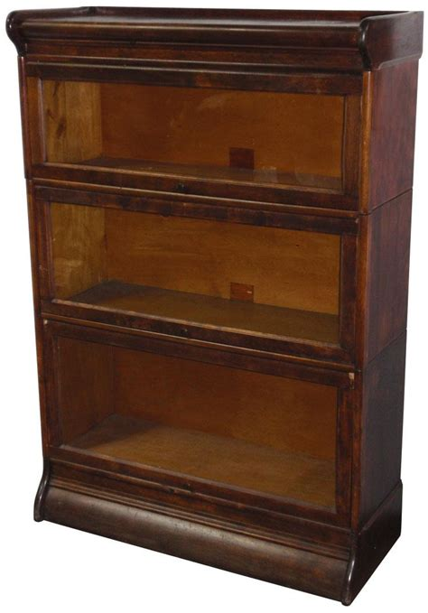 barrister bookcase door slides lawyer s sectional bookcase humphrey 3 section hardwood w