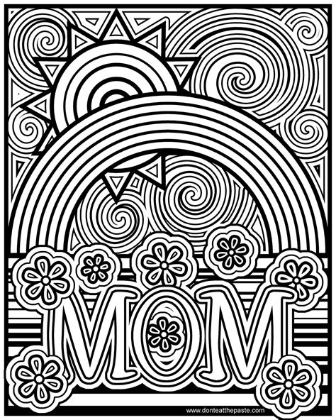 rainbow coloring pages for adults don t eat the paste mom coloring page