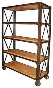 old elm shelf with wheels modern bookcases by noir furniture