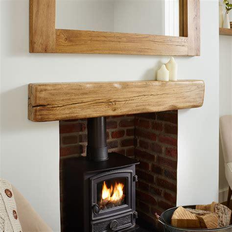 Oak Fireplace Mantel Shelf by Oak Mantel Shelf Aged Flamed Rustic Solid Beam