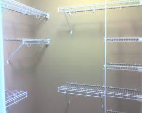 Wire Shelving Closet Design Image Of Wire Closet Shelving How To Install A Diy Wire