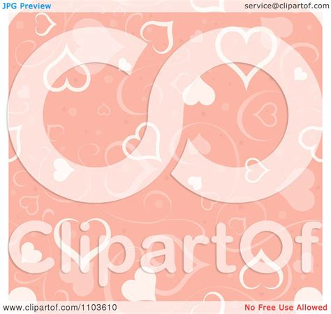 stylish heart design royalty free clipart pastel pink heart and swirl background pattern