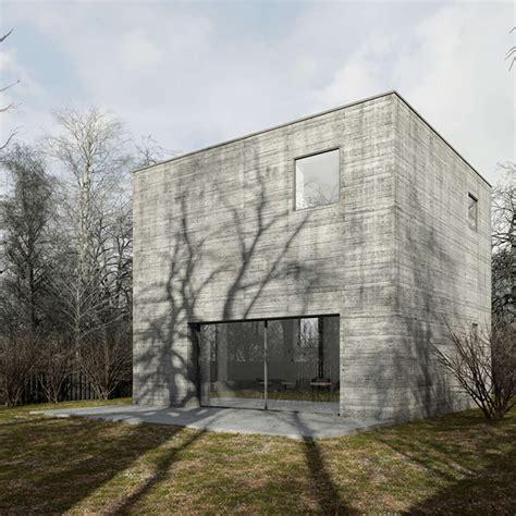 cube fertighaus the concrete cube house in poland by też architekci