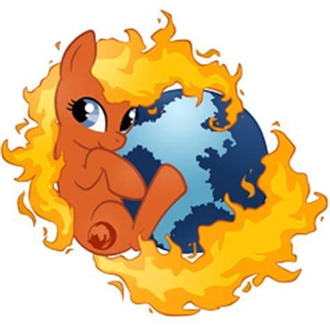 Mozilla Firefox Offical(ly recognized) Pony Icon by Ion