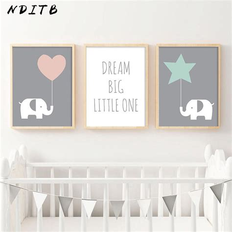 nditb baby girl nursery decor wall art canvas posters