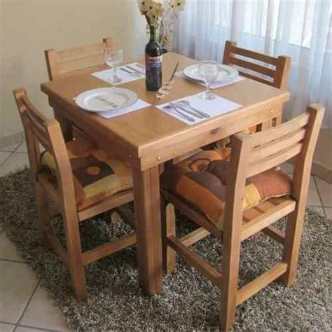 mesa de madera mas  sillas pino nacional  bar restauran  en mercado libre