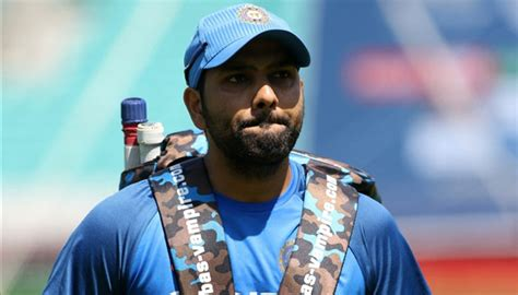 rohit sharma unveils his new hair style on twitter and rohit sharma posts photograph of new hair cut gets