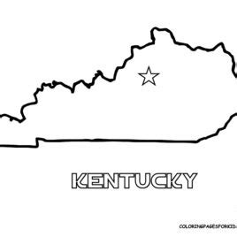 kentucky map coloring page printable outline map of kentucky sketch coloring page