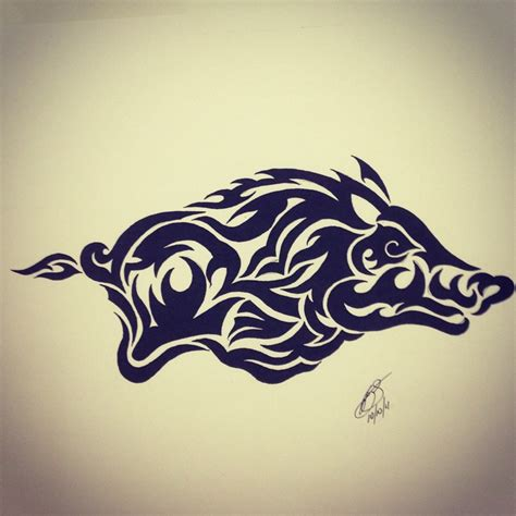 tribal boar tattoo best 25 arkansas ideas on state