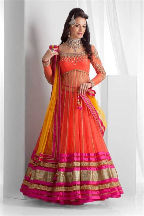 Indian ghagra lehenga choli party wear dresses collection 2015