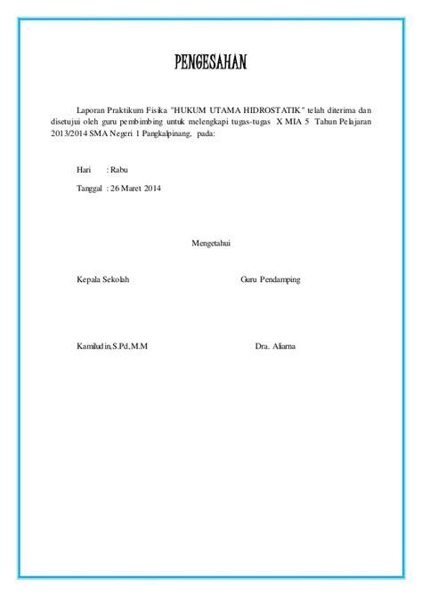 langkah membuat laporan praktikum fisika laporan praktikum fisika hidrostatika