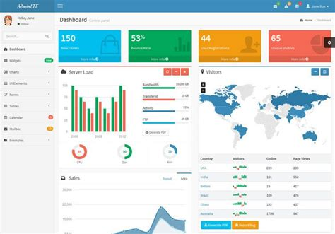free bootstrap themes for it company 20 free bootstrap admin dashboard themes