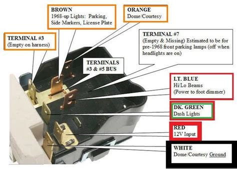 headlight switch wiring diagram the 1947 present