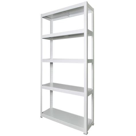 white office shelving units