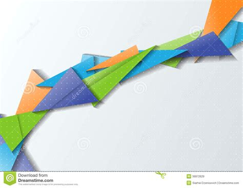 How To Make An Origami Bridge - origami bridge modern abstraction stock image image of