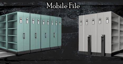 Rak Arsip Statis cara menghemat ruang kantor dengan mobile file