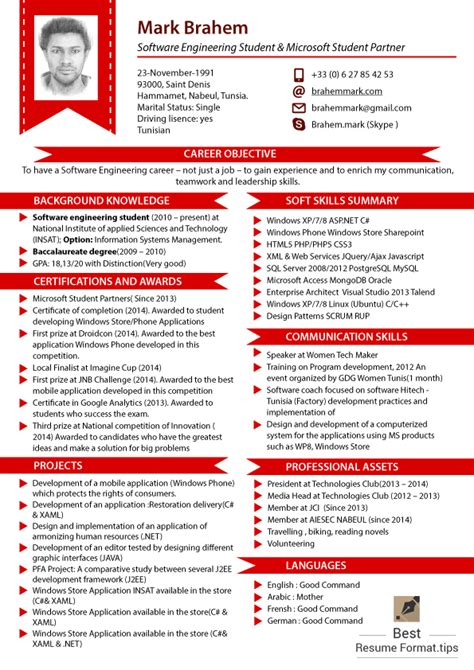 what is the latest resume format 2016 best resume format