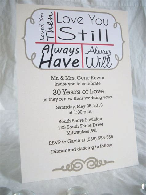 wedding vow renewal invitation ideas 15 best vow renewal images on vow renewals