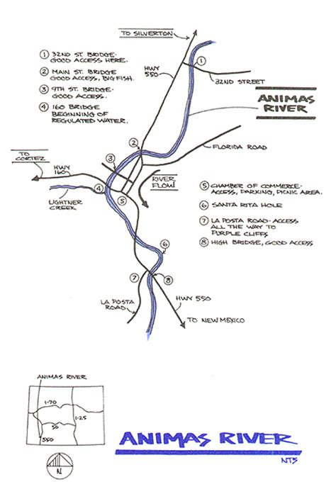 animas river map animas river