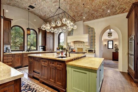 mediterranean kitchen cabinets mediterranean kitchen with u shaped hardwood floors in