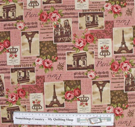Country Patchwork - country patchwork quilting fabric linen allover sewing 50