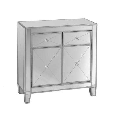 southern enterprises vernon mirrored cabinet in silver