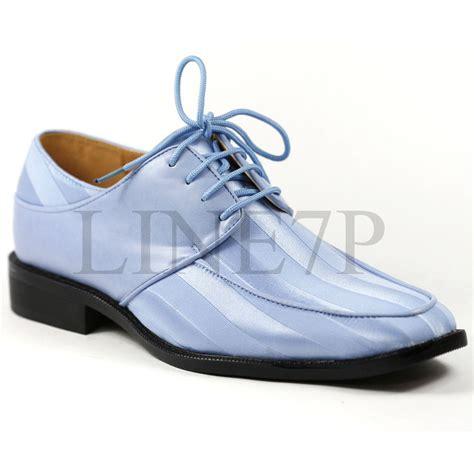 light blue dress shoes s light blue satin striped lace up tux fashion dress