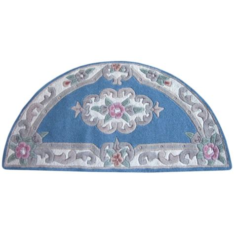avalon french aubusson  moon wool rug xcm blue