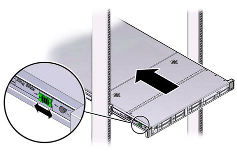 Server Rack Slides by Install The Server Into The Slide Rail Assemblies Oracle