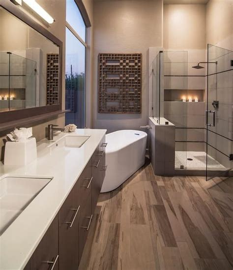 beautiful contemporary bathrooms beautiful warm contemporary bathroom the view from