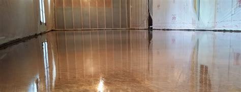 copper metallic epoxy concrete floor