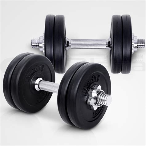 Dumbell 15kg everfit dumbbell set weight dumbbells plates home
