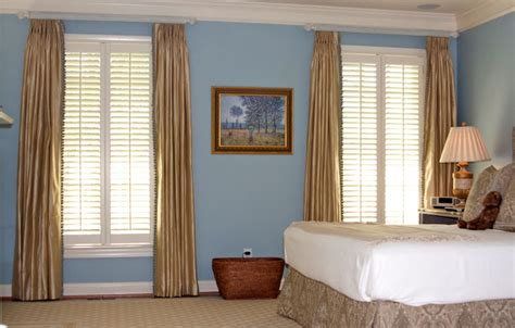 shutters with drapes virginia shutters exles of our finest shutters