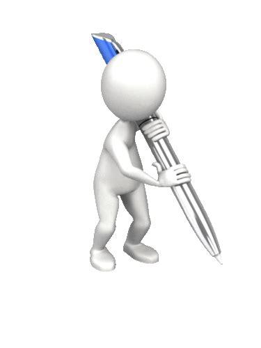 figure gif presenter media stick figure write with pen stick