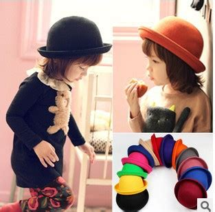 retail fedora hat dome cap children dress hats caps felt hats wool felting