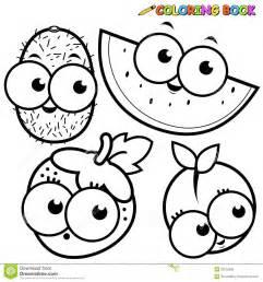 234 che fraise 232 kiwi fruit livre coloriage illustration