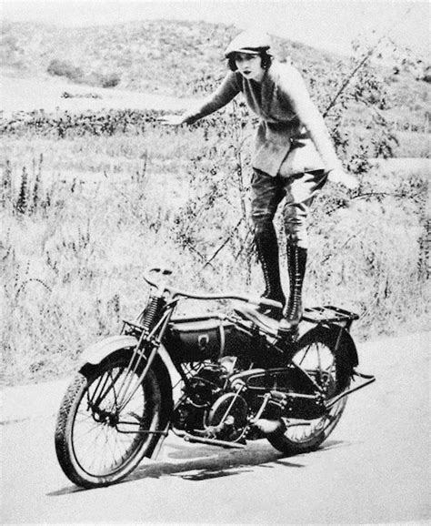 ladies motorbike amazing vintage photos of early women motorcycle stunters