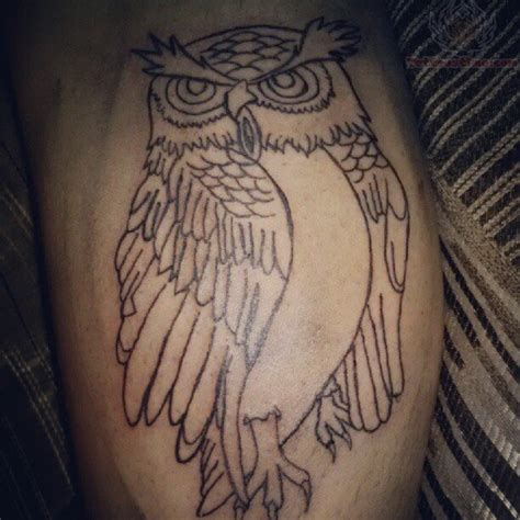 owl outline tattoo simple owl outline